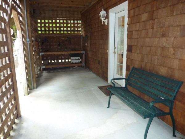 Covered Entry to Game Room